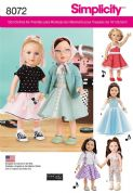 "8072 Simplicity Pattern: 18"" (45cm) Doll Clothes"